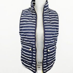 J. Crew navy and white striped vest